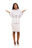 African woman body language. African woman with careless body language isolated on white background Royalty Free Stock Photos