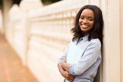 African woman book Stock Photos