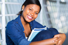 African woman books Royalty Free Stock Images