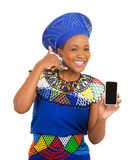 African woman call me sign Stock Photography