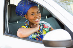 African woman car Stock Photos