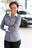 African woman car dealership Stock Photos