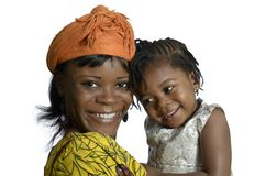 African woman carrying child Stock Photos