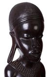 African woman carved from ebony wood Stock Photography