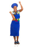 African woman celebrating Royalty Free Stock Photo