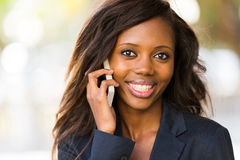 African woman cell Stock Image