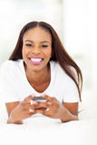 African woman cell phone Royalty Free Stock Photography