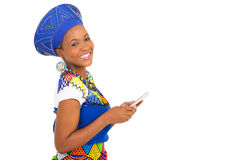 African woman cell phone Royalty Free Stock Photos