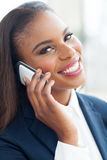 African woman cell phone Stock Photography