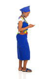 African woman cell phone Stock Images