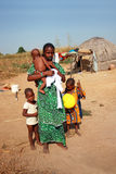 African woman and  children Royalty Free Stock Image