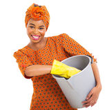 African woman cleaning Stock Photos