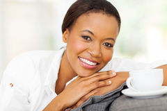 African woman coffee Stock Image