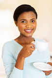 African woman coffee Royalty Free Stock Photo