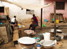 African woman cooking Stock Photography