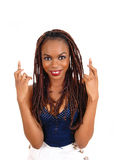 African woman crossing finger. Stock Photography