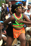 African woman dancer Royalty Free Stock Image