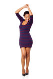 African woman dancing Stock Images