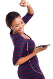 African woman dancing music Stock Images