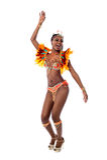 African woman dancing samba Stock Image