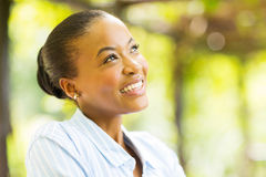 African woman daydreaming Royalty Free Stock Images