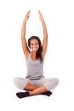 African woman doing exercise Royalty Free Stock Images
