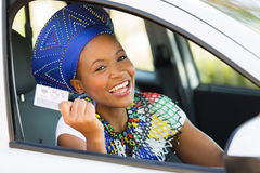 African woman driver's license Stock Images