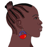African Woman with earring Stock Photography