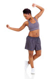 African woman exercise Royalty Free Stock Images