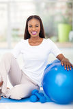 African woman exercise Stock Photography