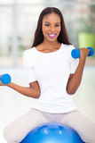 African woman exercising Stock Photos