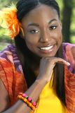 African Woman Face Stock Photo