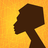 African woman face silhouette, stylized Stock Photos