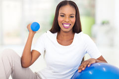 African woman fitness exercise Stock Photography