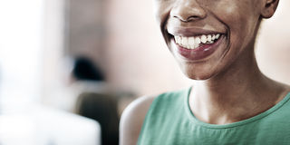 African Woman Happiness Smiling Cheerful Optimistic Concept Royalty Free Stock Images