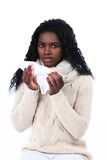 African woman has caught a cold Stock Photos