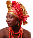 AFRICAN WOMAN WITH HEADWRAP Stock Images