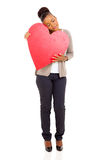 African woman heart Royalty Free Stock Image