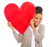 African woman heart symbol Stock Photos