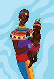 African woman with her small child Royalty Free Stock Photo