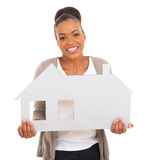 African woman house Stock Images