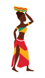 African woman  icon. African descendant design. vector graphic Stock Images