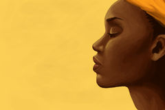 African Woman. This illustration contains a portrait of an African young woman Royalty Free Stock Photos