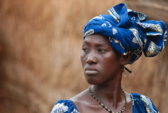 Free African Woman In Blue Dress Stock Photos - 4410443