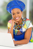 African woman laptop Royalty Free Stock Images