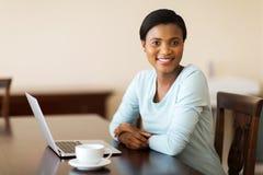 African woman laptop Royalty Free Stock Image