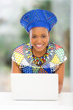 African woman laptop Stock Photos