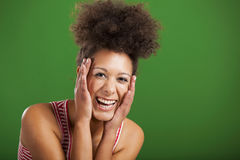 African woman laughing Royalty Free Stock Image