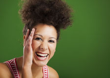 African woman laughing Stock Photos