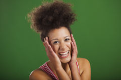 African woman laughing Stock Images